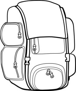 249x298 Black Backpack Clip Art