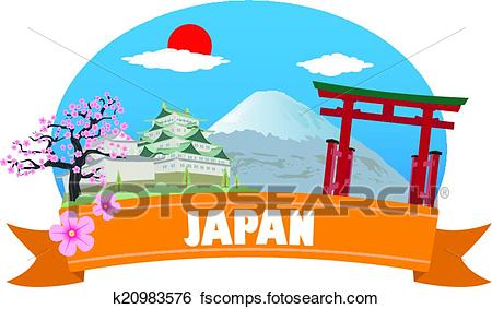 450x283 Clip Art Of Japan. Tourism And Travel K20983576