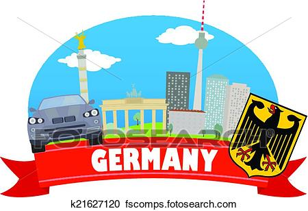 450x308 Clipart Of Germany. Tourism And Travel K21627120