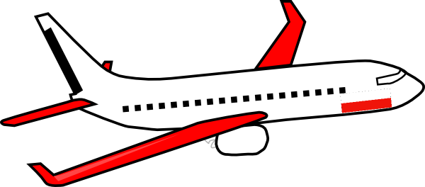 600x264 Free Airplane Travel Clipart Image