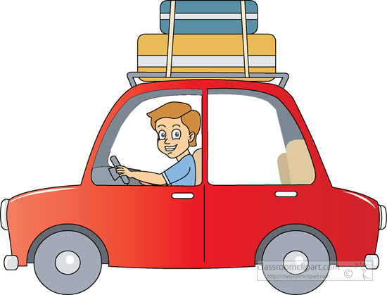 550x419 Automobiles Clipart Travel By Car Suitcase On Roof Clipart