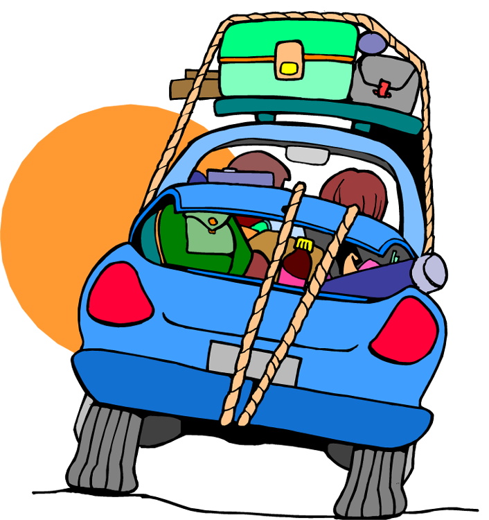 706x750 Free Car Travel Clipart Image