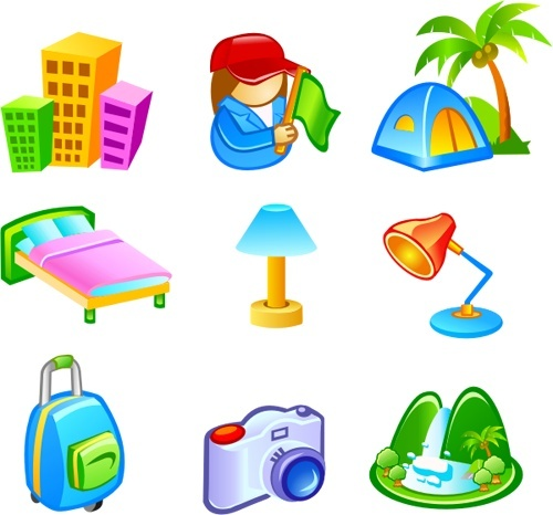 500x466 Free Vector Travel Icons Free Vector In Coreldraw Cdr ( Cdr
