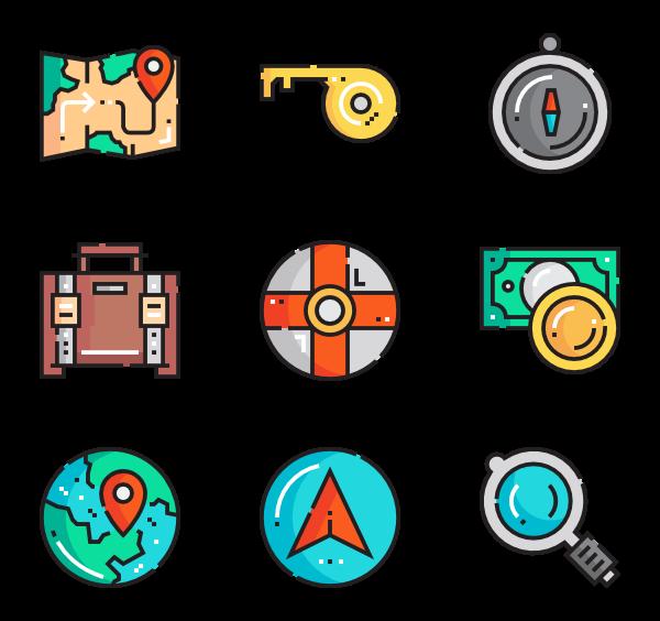 600x564 Travel Icons