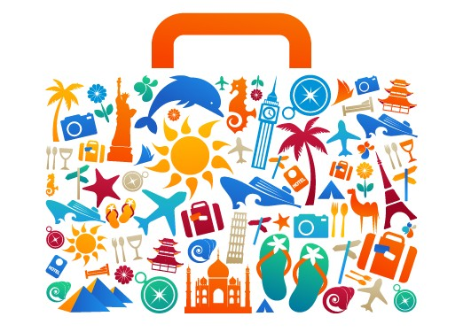 531x375 Travel Elements With Bag Creative Vector