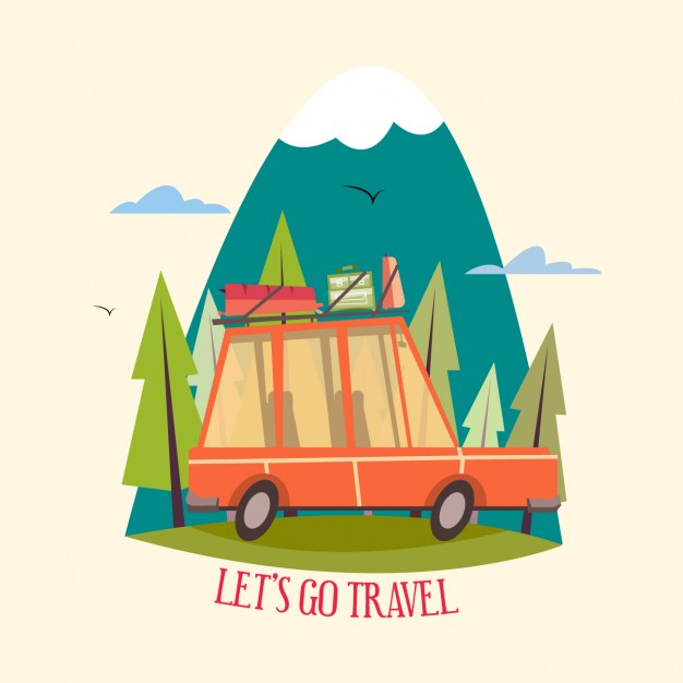 626x626 Coloured Travel Design Vector Free Download