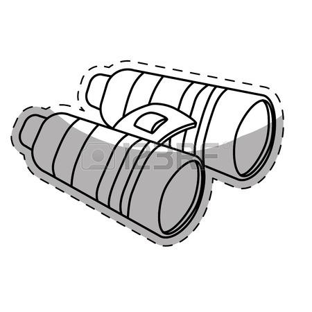 450x450 Binoculars Travel Or Military Icon Image Vector Illustration