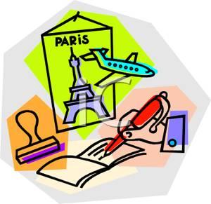 300x291 Flyer For Paris On A Travel Agent's Desk