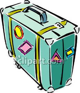 258x300 Luggage Stickers Clipart