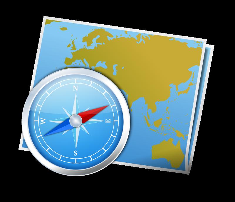 800x689 Survival Clipart Compass Map