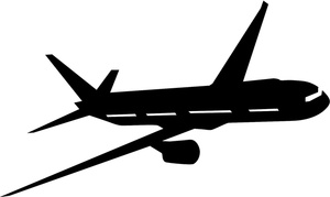 300x179 Airplane Silhouette Clip Art Many Interesting Cliparts