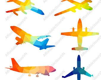 340x270 Airplane Vector Etsy