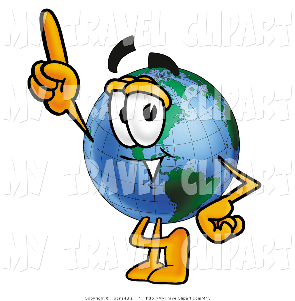 1024x1044 Clipart Of A World Earth Globe Mascot Cartoon Character Pointing