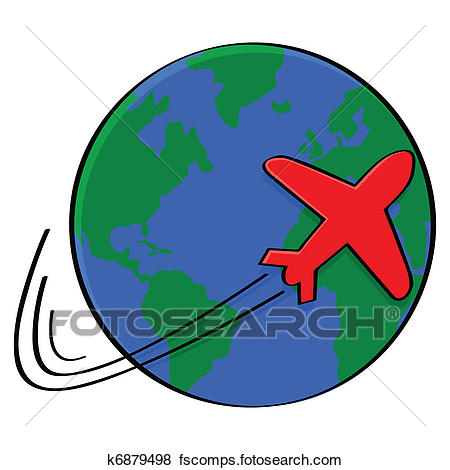 450x470 Clipart Of Traveling By Plane K6211344