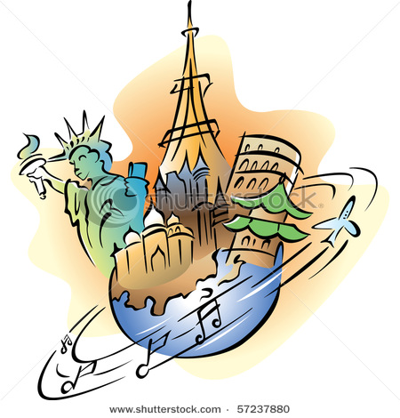 450x470 Travel Clipart World Travel