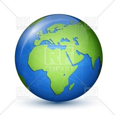 400x400 World Globe Map