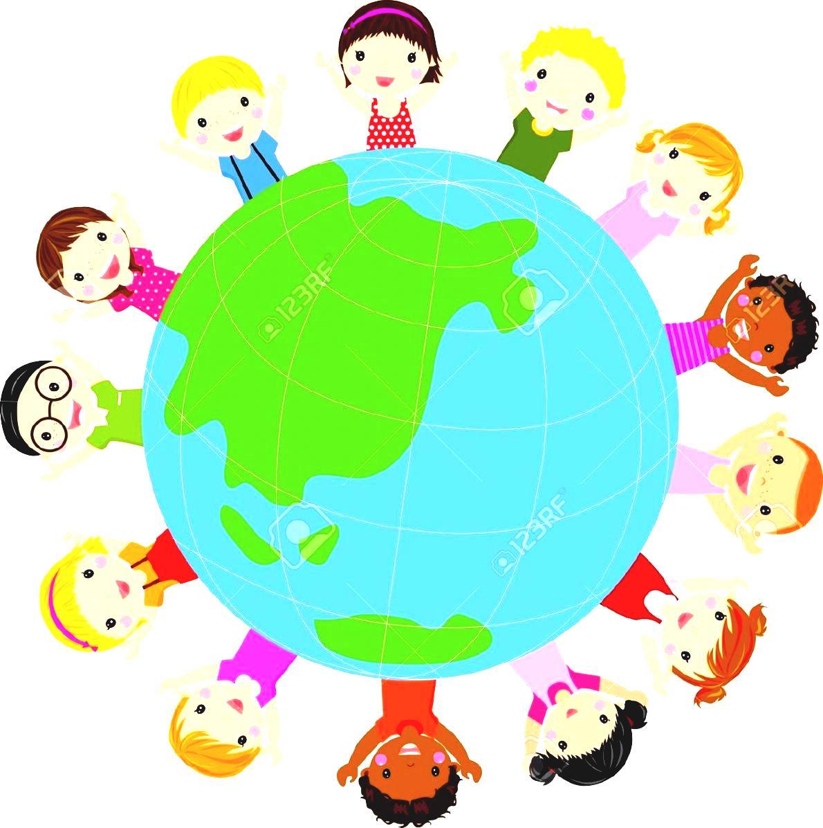 1190x1196 Free Clipart Children Around The World