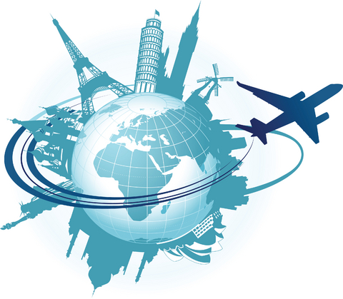 480x419 Traveling World Clipart