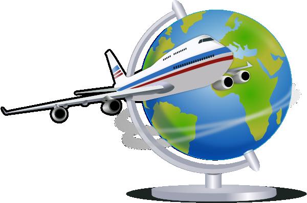 600x398 Airplane Traveling The Globe Clip Art