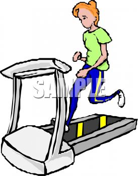 274x350 Royalty Free Clipart Image Girl Running On A Treadmill
