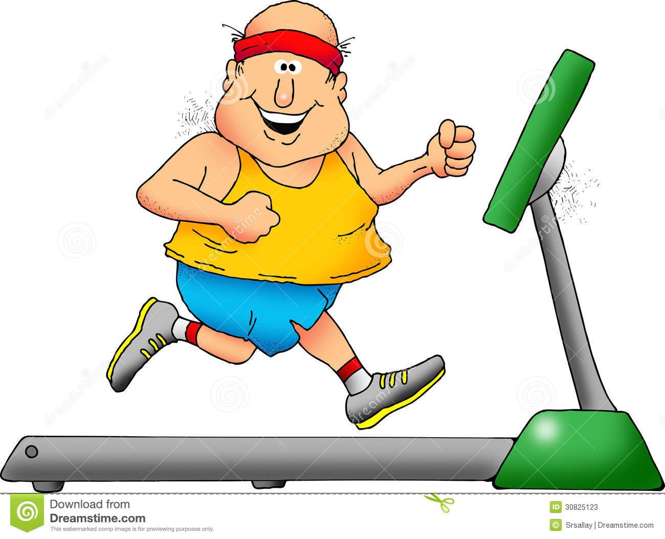 1300x1054 Running On Treadmill Clipart