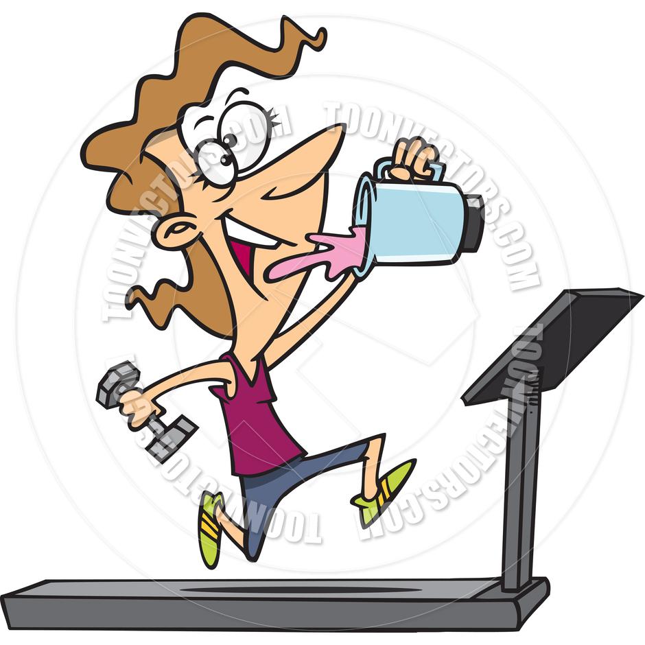 940x940 Cartoon Treadmill By Ron Leishman Toon Vectors Eps