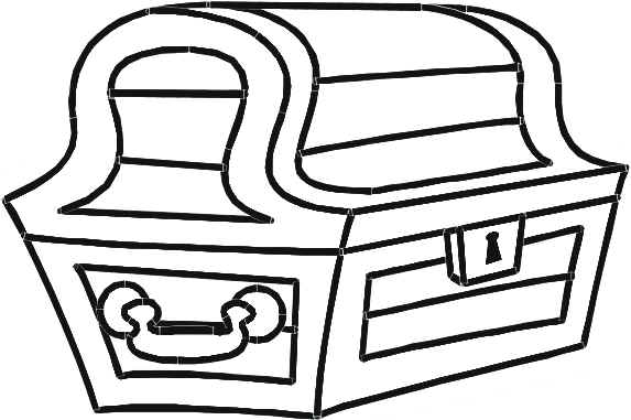 treasure chest lock coloring pages - photo#24