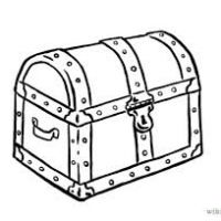 200x200 Clipart Of Treasure Chest