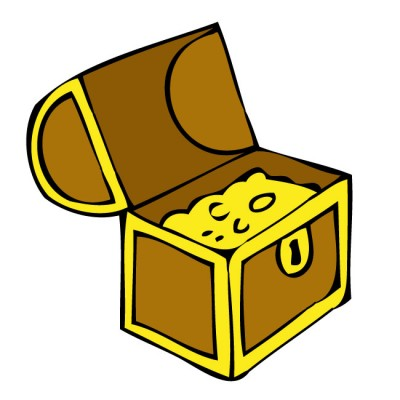 400x400 Free Clip Art Treasure Chest
