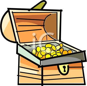 350x346 Picture Of A Treasure Chest Of Gold Coins In A Vector Clip Art