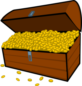 285x298 Treasure Box Clip Art