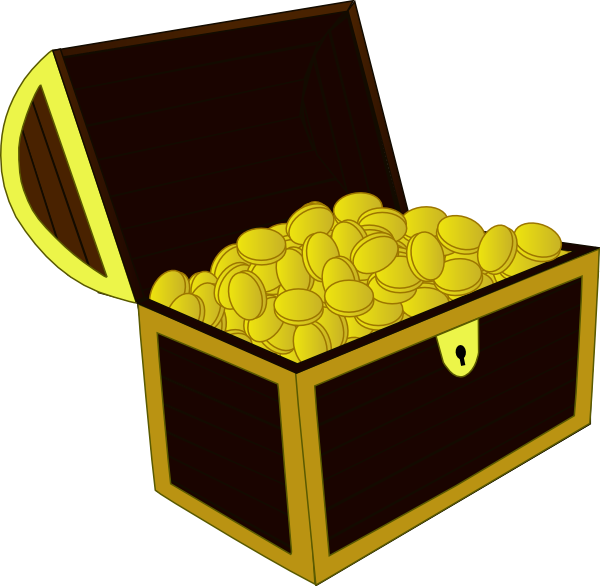 600x586 Treasure Chest Clip Art