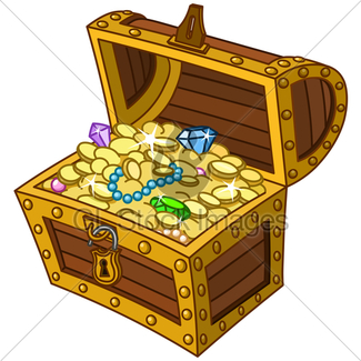 325x325 Treasure Chest Gl Stock Images