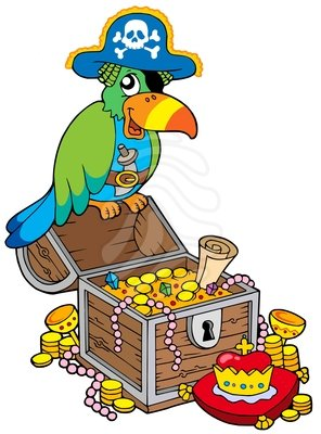 296x400 Treasure Clipart Pirate Treasure