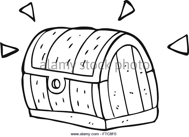 Treasure Chest Clipart Black And White | Free download on ...