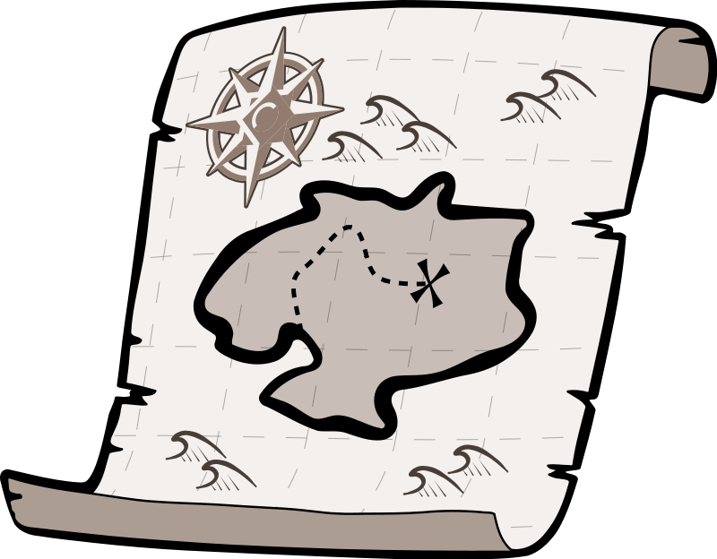800x624 Free Treasure Map Clip Art