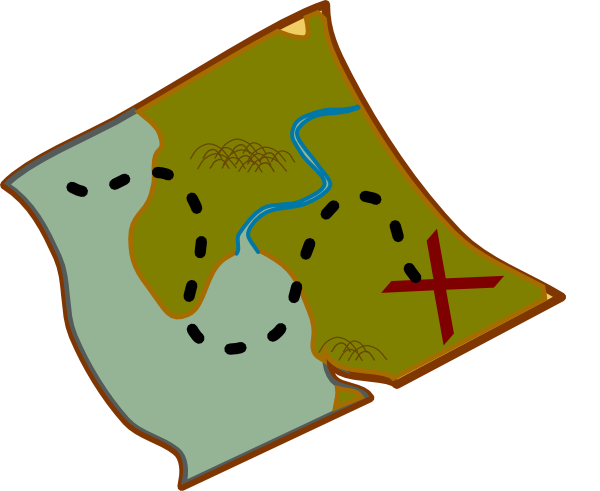 600x491 Treasure Map Clip Art