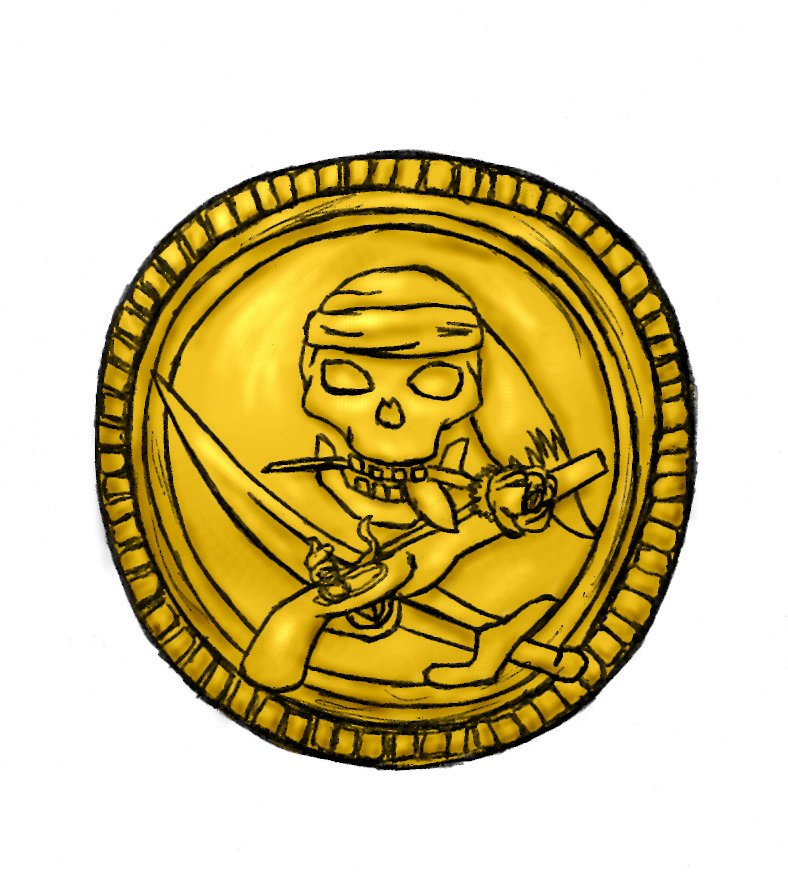 788x878 Coin Clipart Treasure Coin