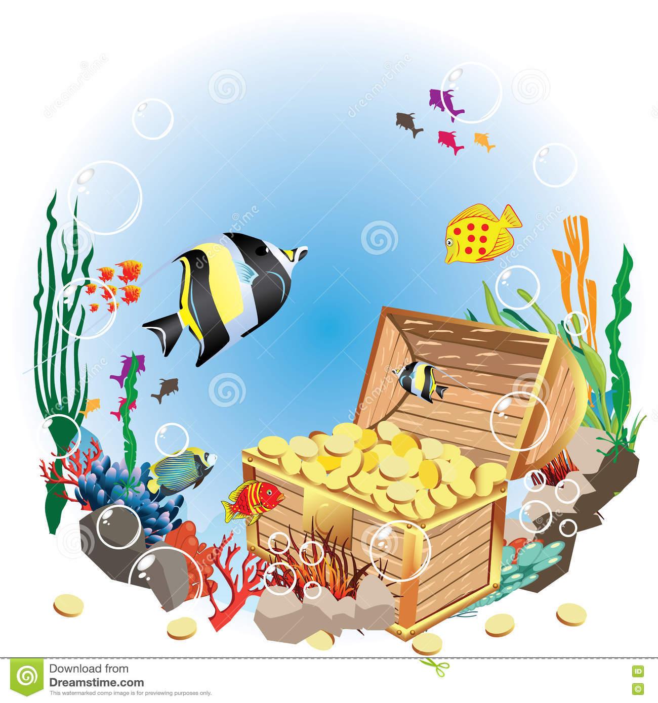 1300x1390 Aquarium Clipart Underwate Treasure