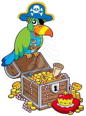 296x400 Pirate Treasure Clipart