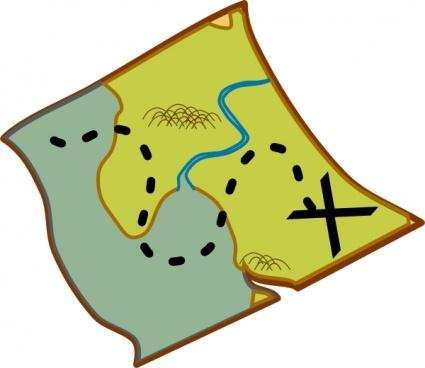425x368 Treasure Map Clip Art Vector, Free Vector Graphics