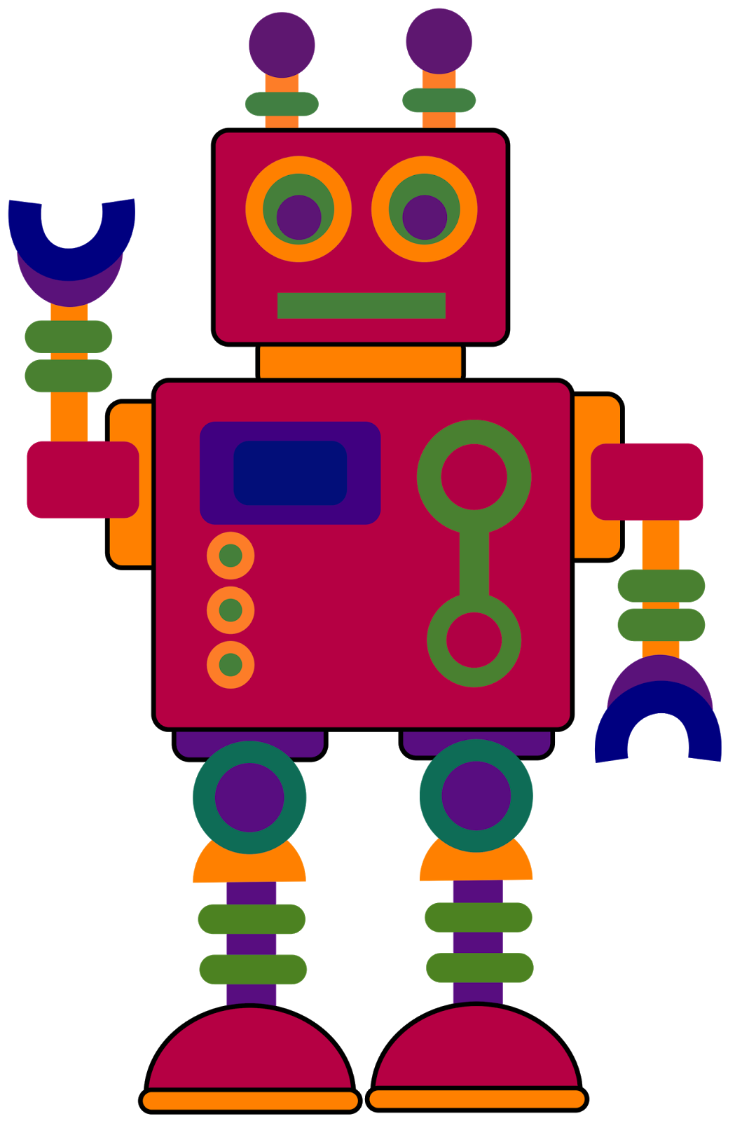 1049x1600 Treasures Robot Clipart 2