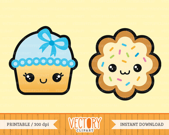 570x456 12 Kawaii Sweet Treats Clip Art Kawaii Cupcakes Kawaii