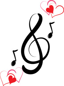 225x300 Love And Music Clipart