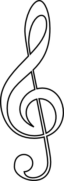 210x593 Treble Clef Clip Art Free Vector In Open Office Drawing Svg ( Svg