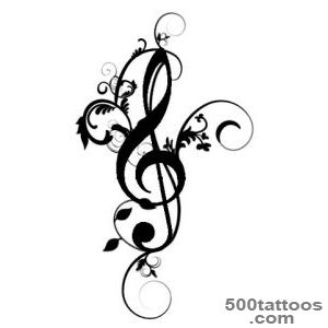 300x300 Treble Clef Tattoo Designs, Ideas, Meanings, Images