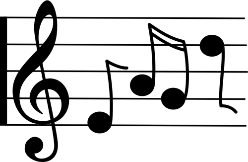 500x326 Treble Clef With Notes Vector Graphics Public Domain Vectors