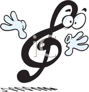 292x300 And Hands On A Treble Clef Note Clipart Image