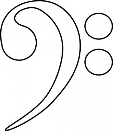 367x425 Bass Clef Clip Art Vector Clip Art Free Vector Free Download