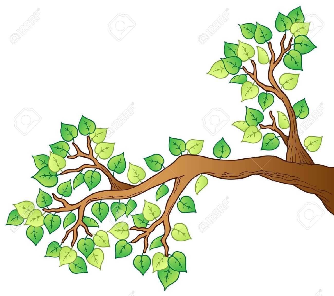 1300x1153 Branch Clipart Leafy Tree